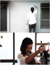 ヤマグチオサムと小林明子の写真